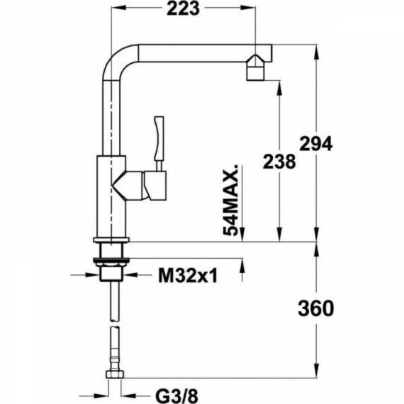 Vòi rửa Teka INX 914