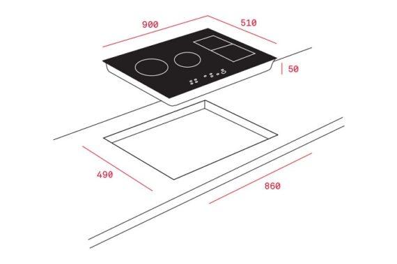 Bếp từ Teka IRF 9480 TFT TABLET