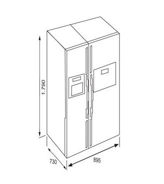 Tủ lạnh Teka NFD 680 BLACK