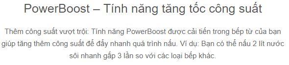 Chức năng PowerBoost Bếp từ Kuppersbusch VKI3500.1SR